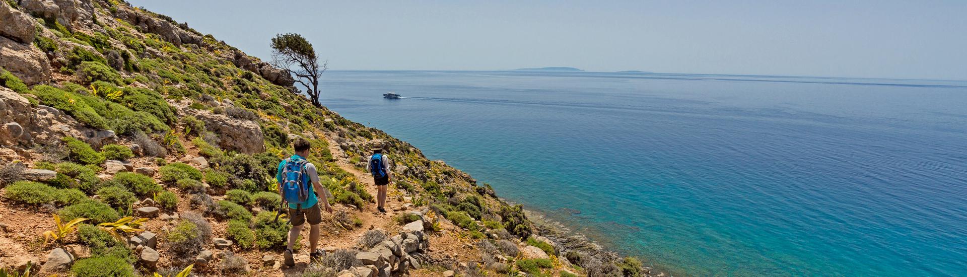 Kreta - Białe Góry i błękit morza