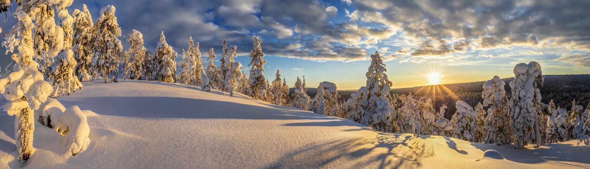 Zima w Beskidach - w górach Polski